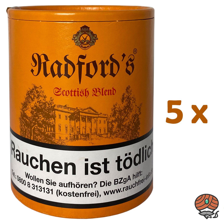 5x Radford´s Scottish Blend Pfeifentabak Dose à 200g (ehem. Old Scotch)