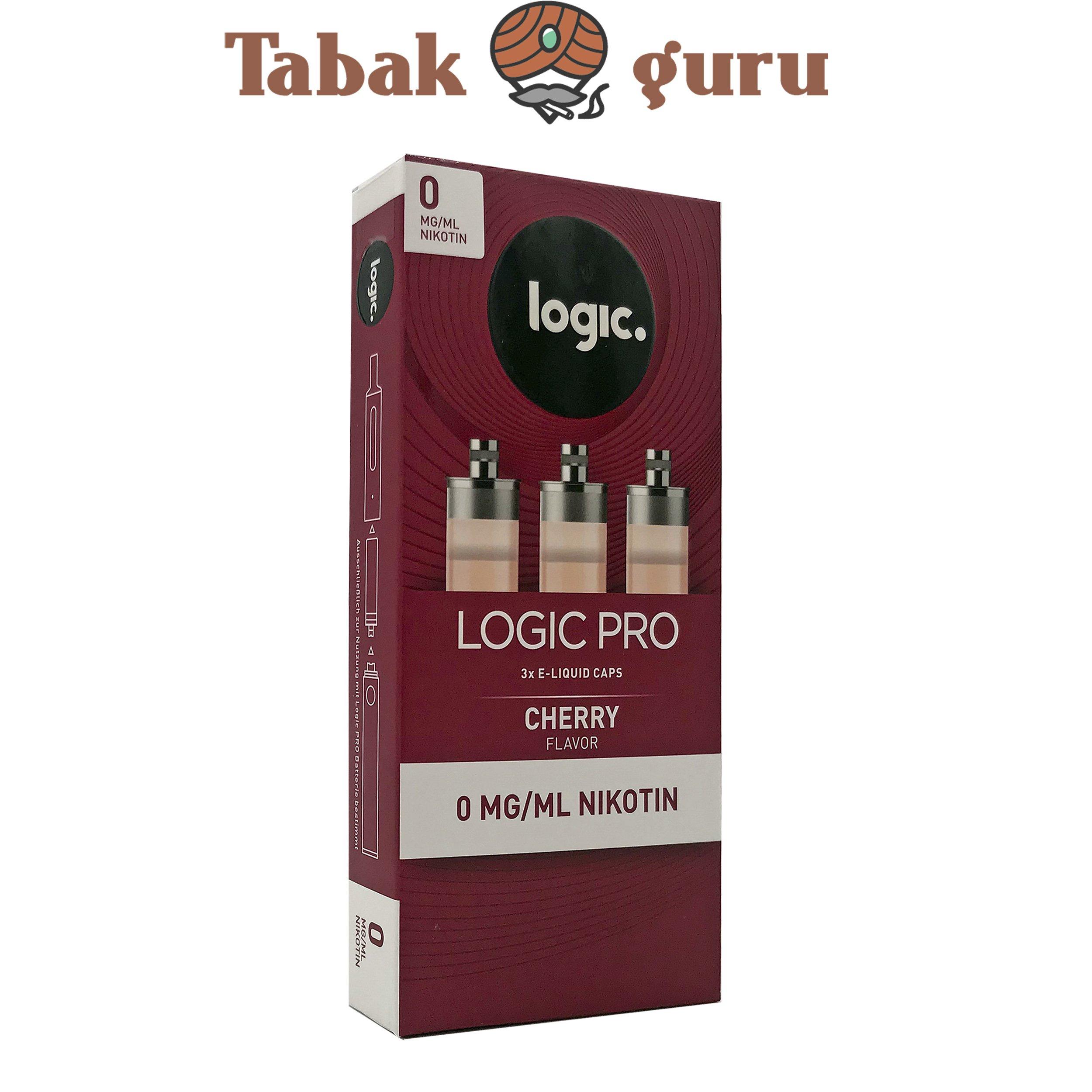 Logic Pro e-Liquid Caps Cherry Flavor 0 mg/ml Inhalt 3 Caps