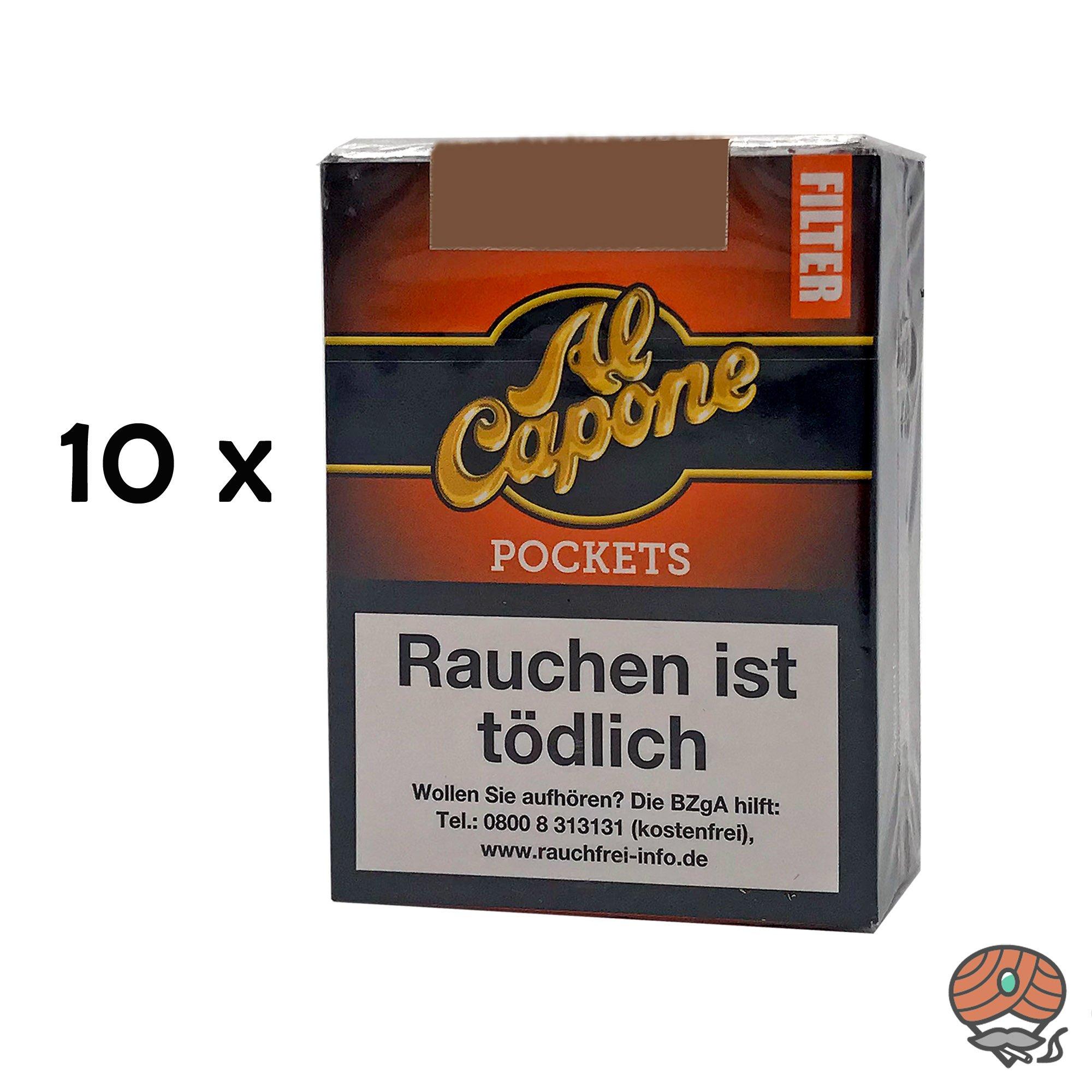 10 x Al Capone Pockets Flame Blend Filterzigarillos