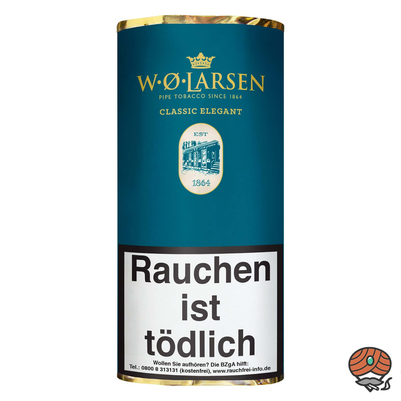 W.Ø. LARSEN Classic Elegant Pfeifentabak 50g Pouch / Beutel
