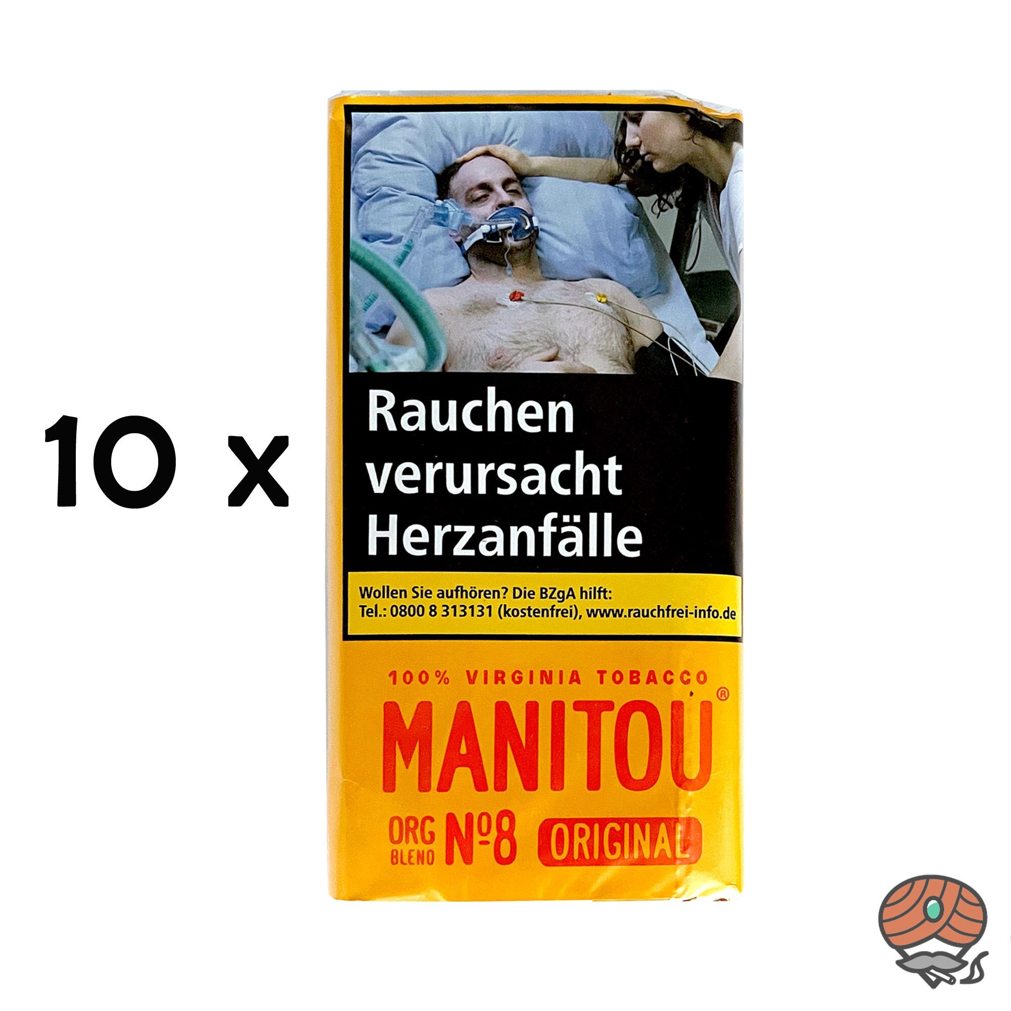 Manitou Organic Blend Original No.8 10x30g Drehtabak Beutel