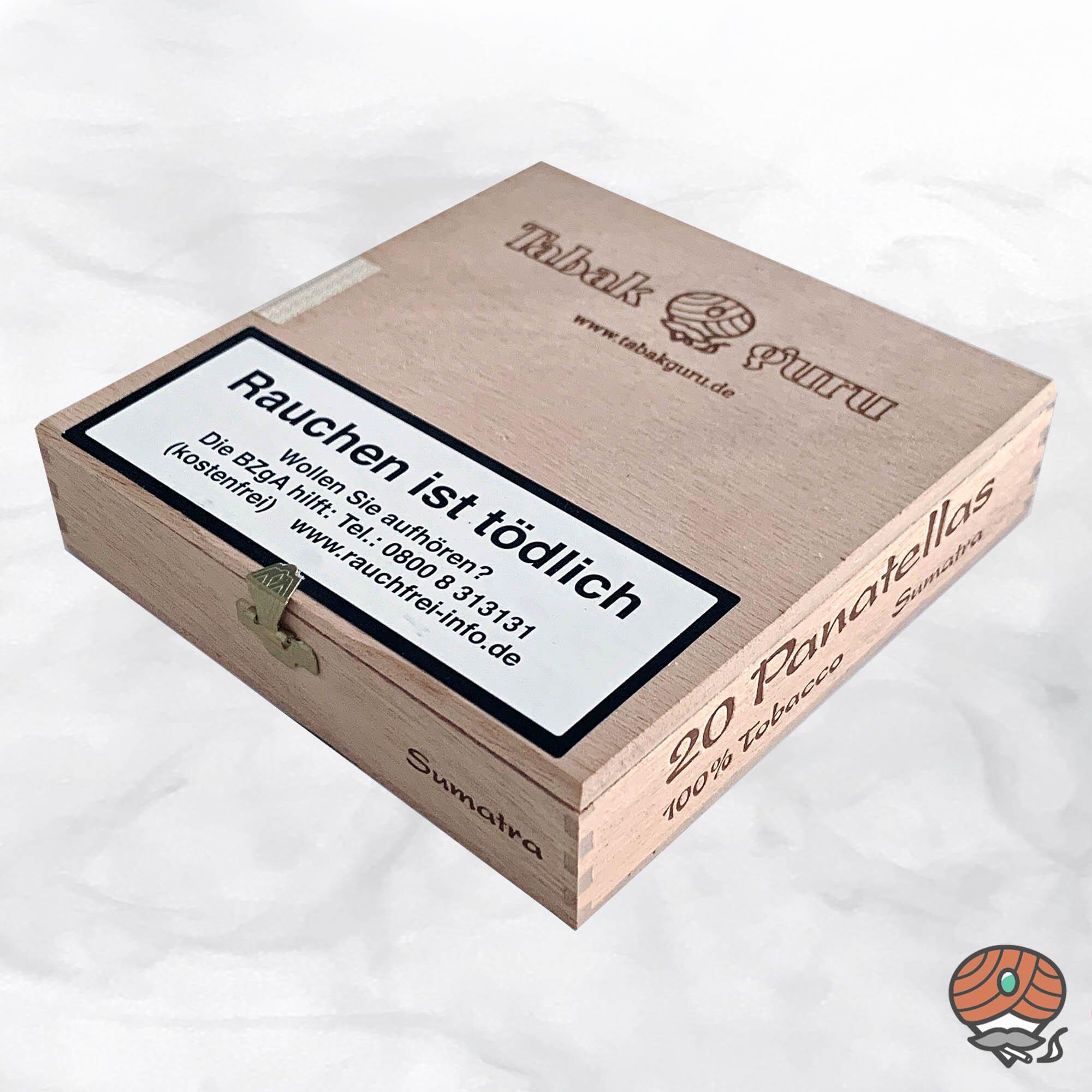 20 Tabakguru Panatellas Sumatra Zigarren 100 % Tabak