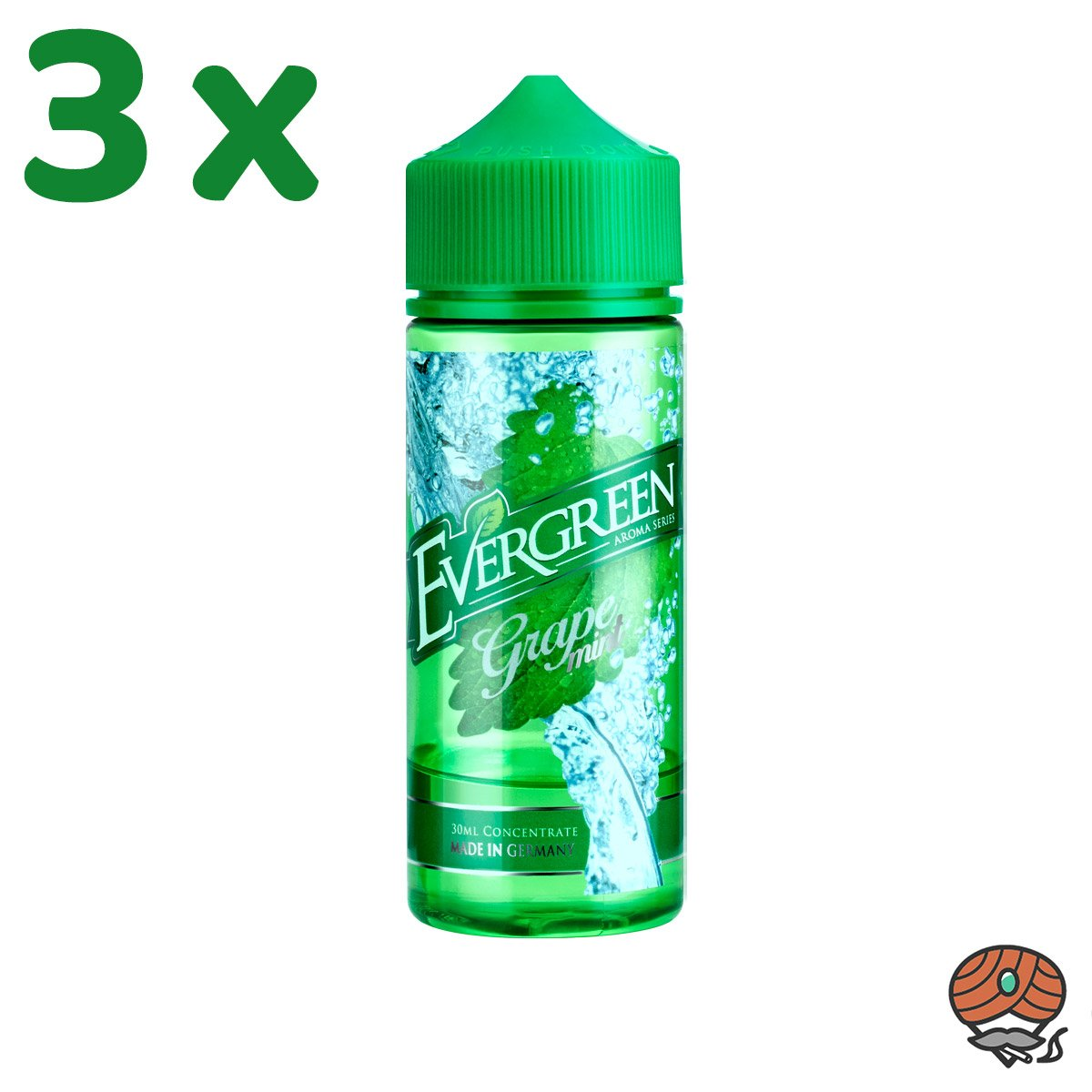3 x Grape Mint Evergreen Aroma à 30 ml
