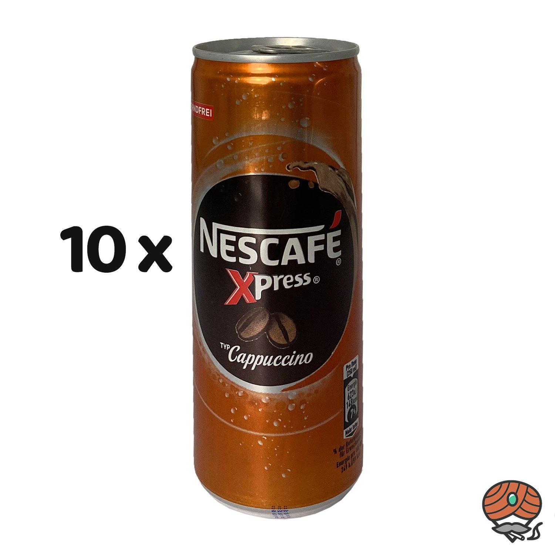 10 x Nescafé Xpress Typ Cappuccino, 250 ml Dose