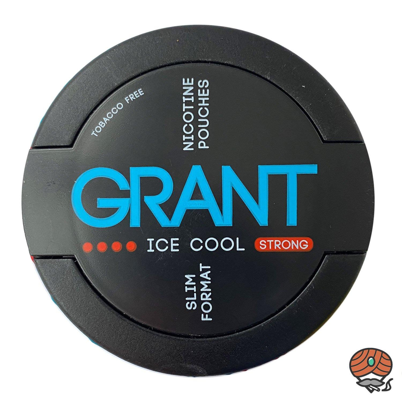 GRANT Ice cool Kautabak / Nicotine Pouches Slim Format Stärke 4 STRONG
