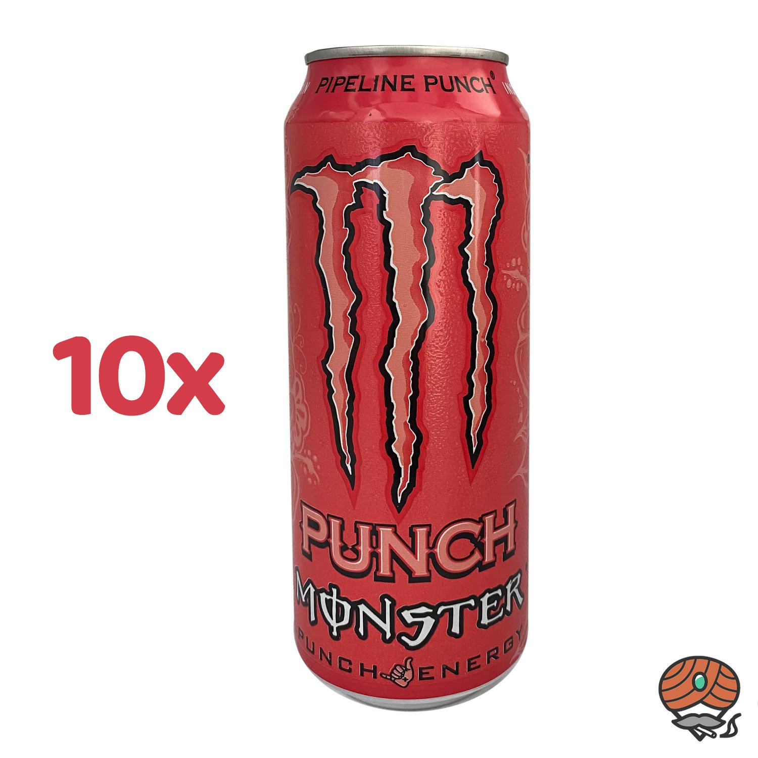 10 x Monster Pipeline Punch Energy Drink, 500 ml Dose