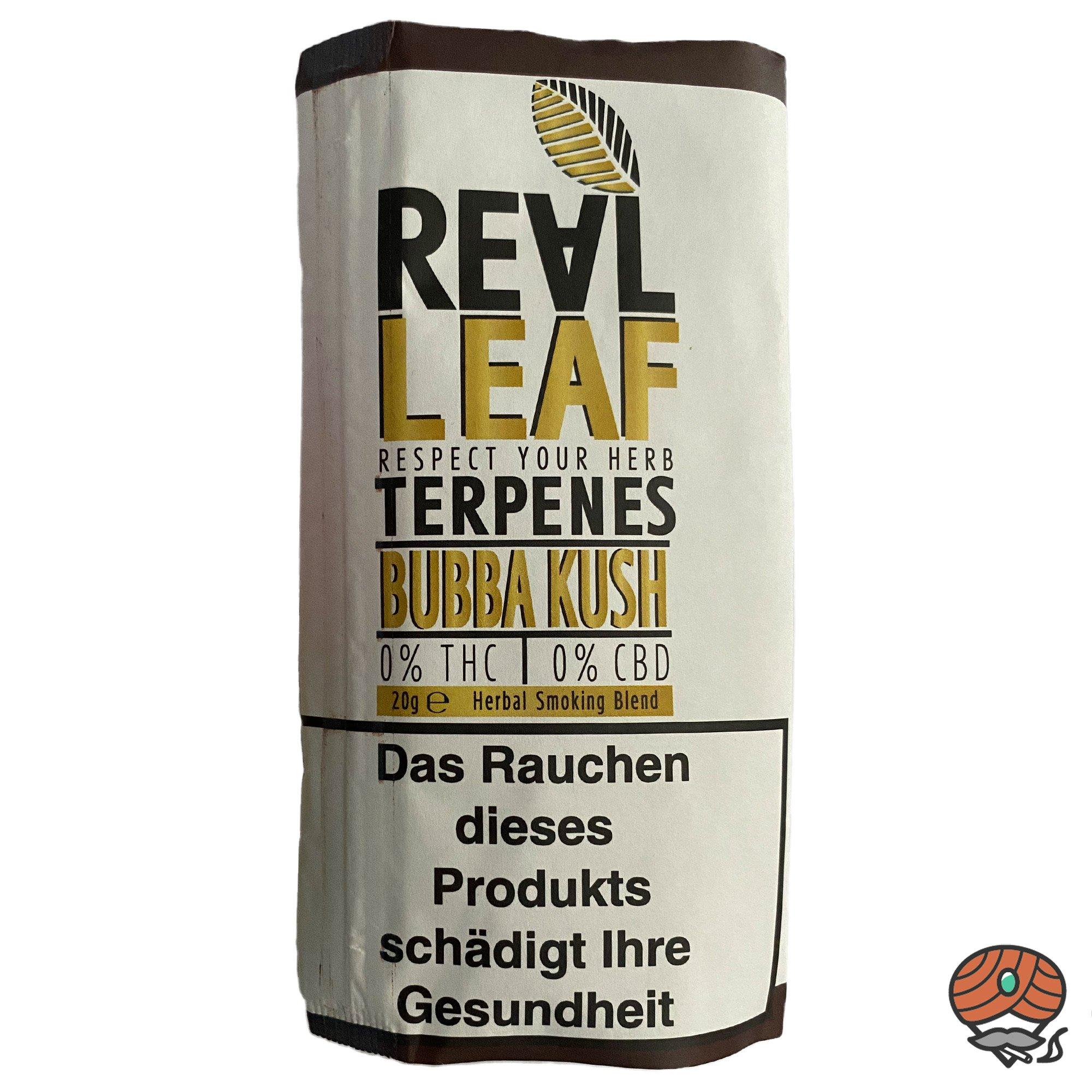 Real Leaf BUBBA KUSH, Tabakersatz, nikotinfrei, Kräutermischung 20g