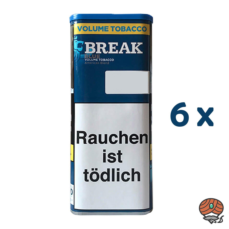 6x Break Blue Volumentabak / Tabak XXL Dose à 115g