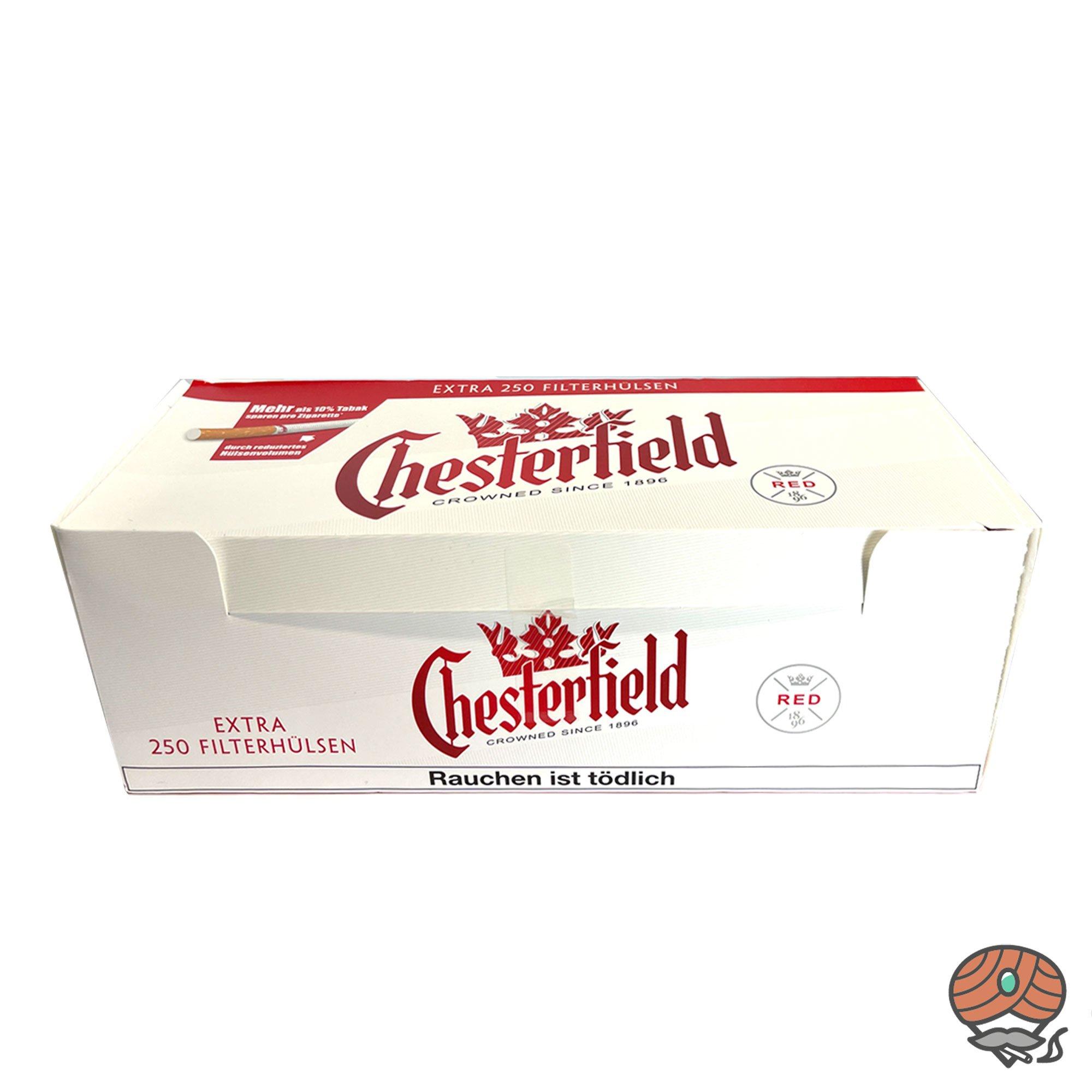 Chesterfield Red Extra-Filterhülsen / Tubes 250 Stück
