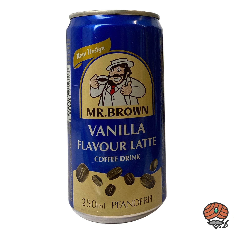 Mr. Brown, Coffee Drink, Vanilla Flavour Latte, 250 ml Dose