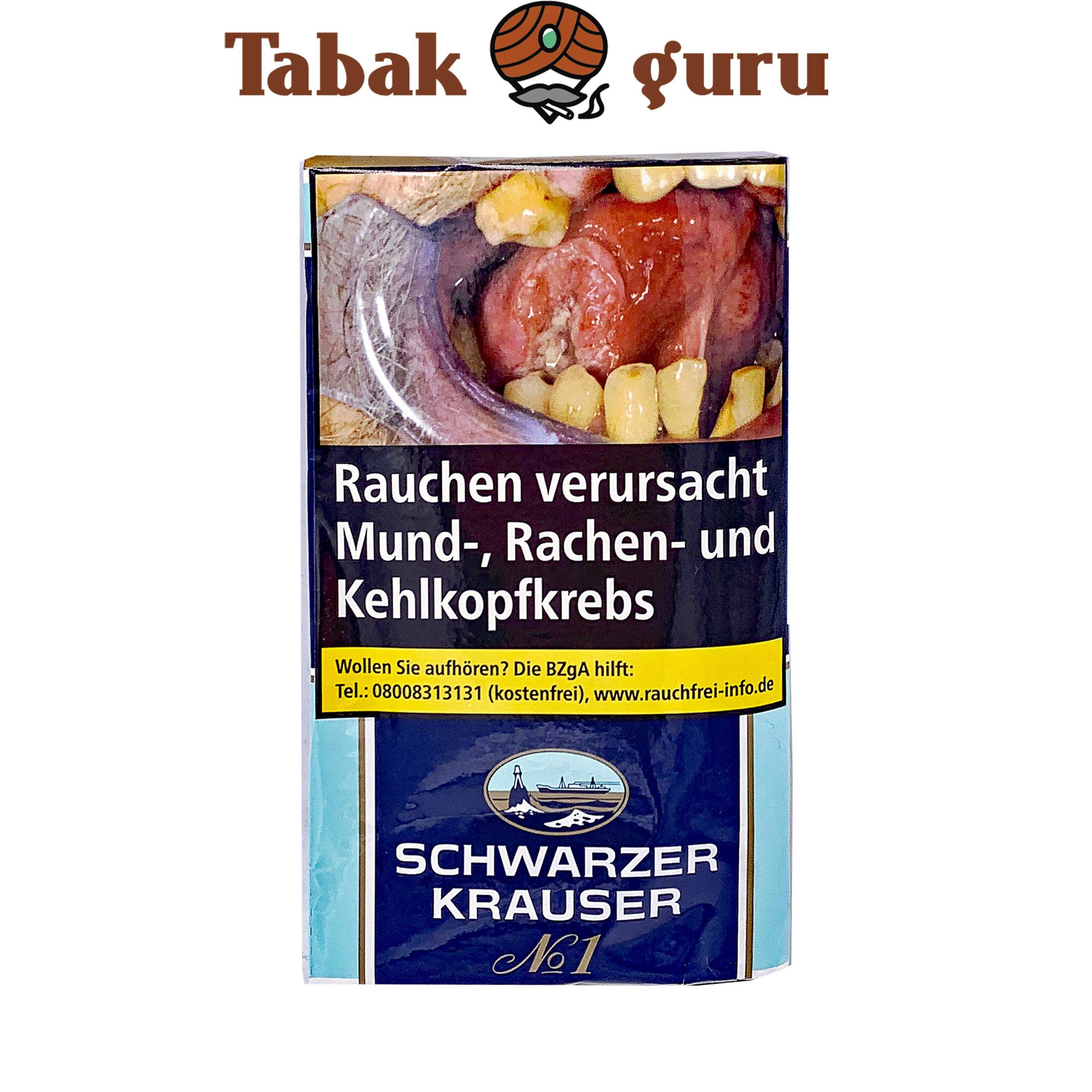 Schwarzer Krauser No1 Feinschnitttabak Pouch