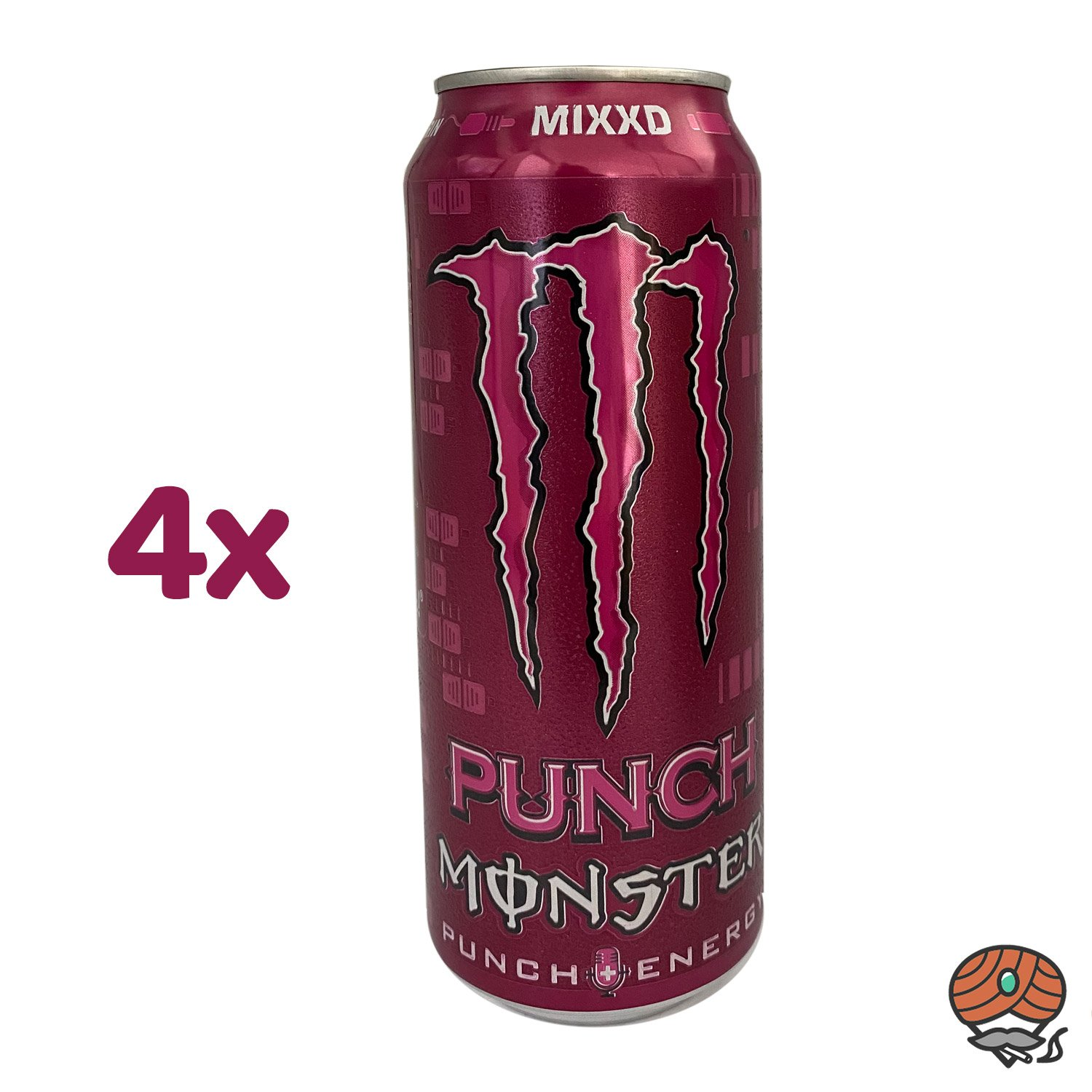 4 x Monster Punch Mixxd Energy Drink, 500 ml Dose