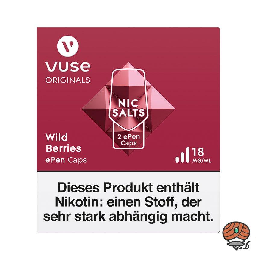 Vuse ePen Caps 1x Wild Berries 18 mg/ml à 2 Caps (ehem. Vype ePen3)