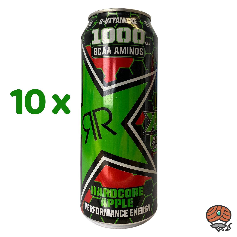 10 x Rockstar, XD Power, Hardcore Apple, Energy Drink, 500 ml Dose