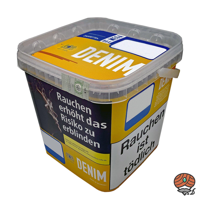 2 x Denim Mega Box Volumentabak 290g Eimer + 1.600 Mark1 Hülsen + Zubehör