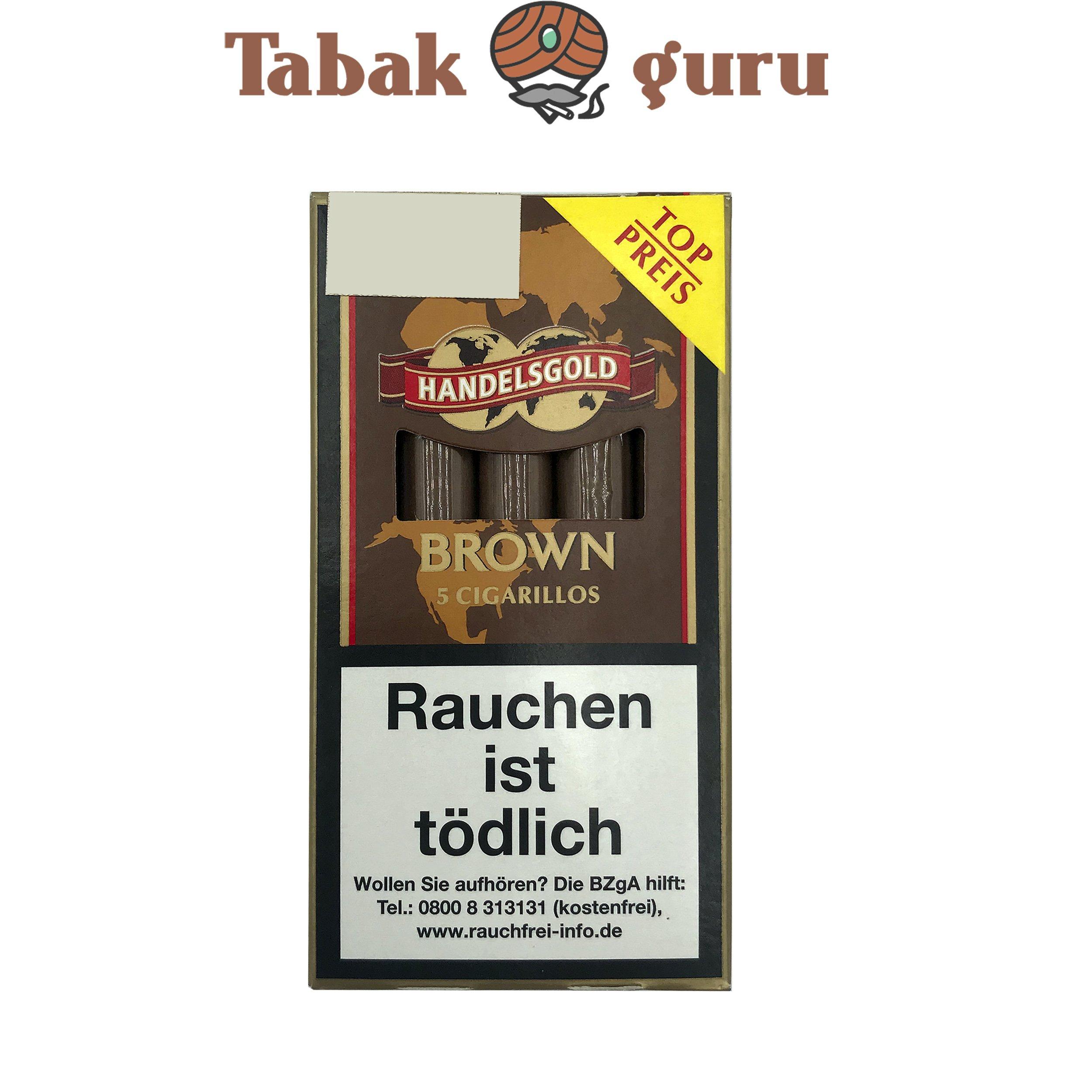 Handelsgold Brown No. 204 Filterzigarillos a 5 Stück