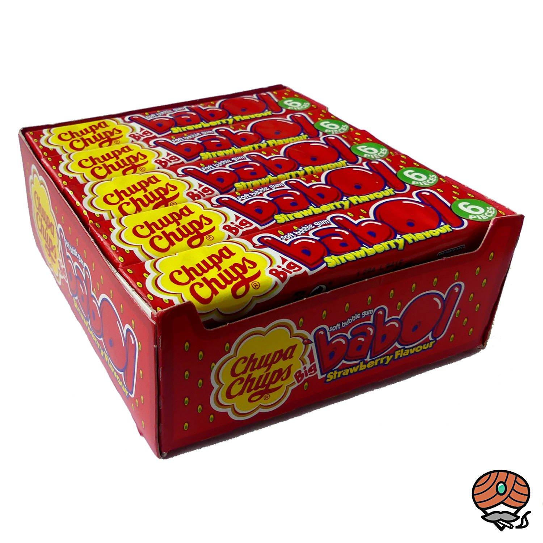20 x Chupa Chups Big babol Erdbeer-Geschmack Soft-Kaugummi