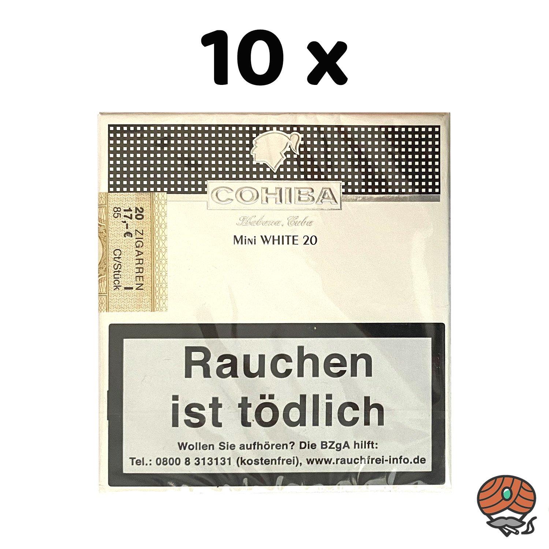 10 x Cohiba Mini WHITE Zigarillos à 20 Stück