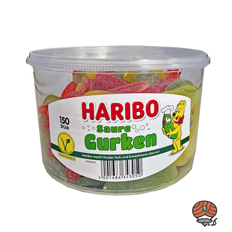Haribo Saure Gurken Dose 150 Stück / 1200g