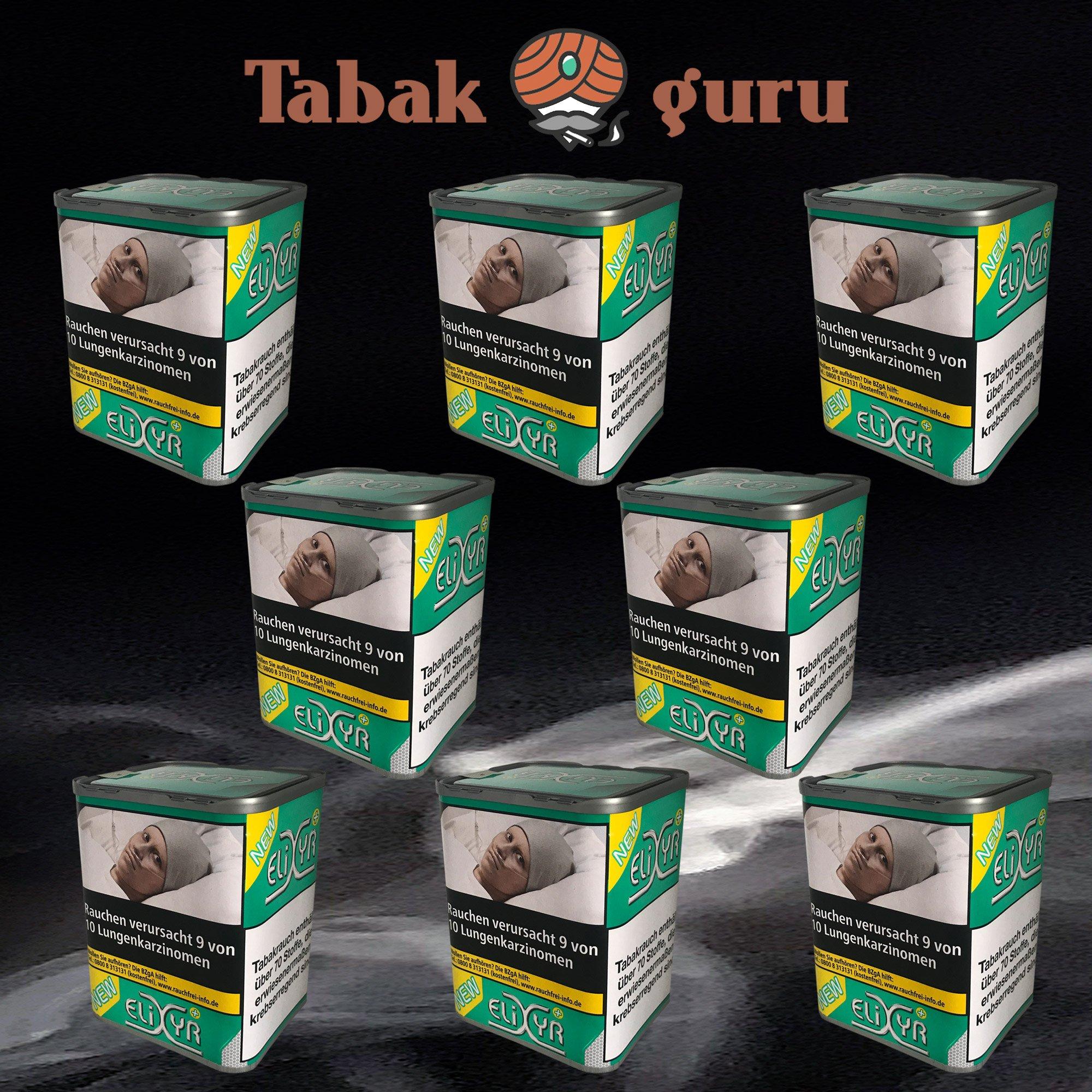 8 x Elixyr PLUS Tabak 115g Zigarettentabak
