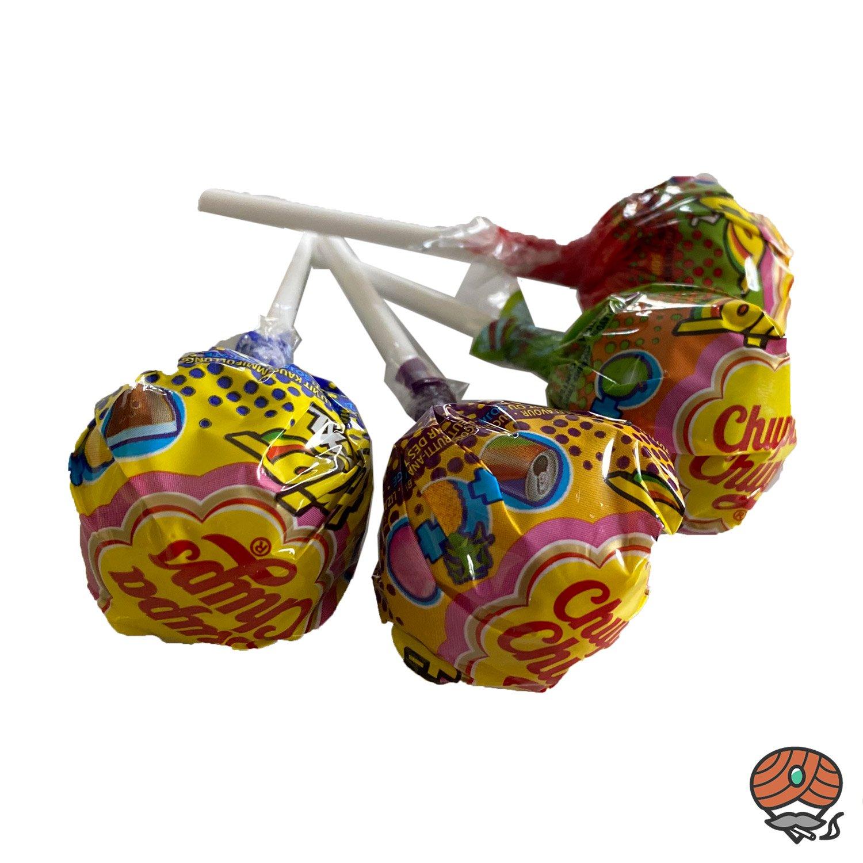 4 x Chupa Chups XXL Trio 3 in 1 Lollipop mit Kaugummi à 29 g