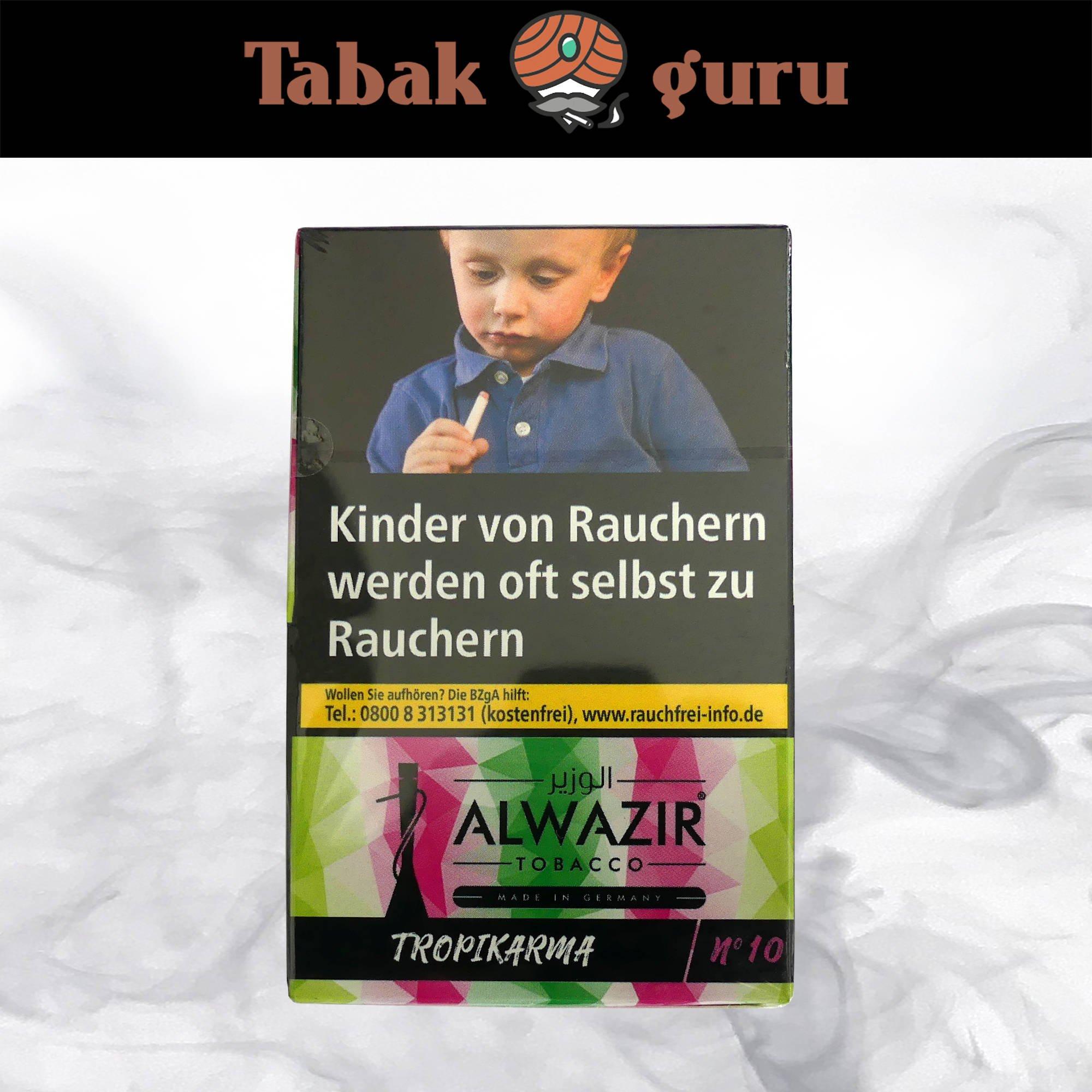 Alwazir Shisha Tabak - No. 10 - TROPIKARMA 50g