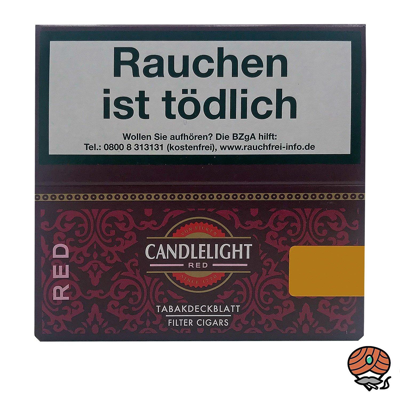 Candlelight Red / Rot Filter Zigarillos, Cherry / Kirsche, 50 Stück