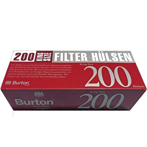 200 Burton King Size Filterhülsen