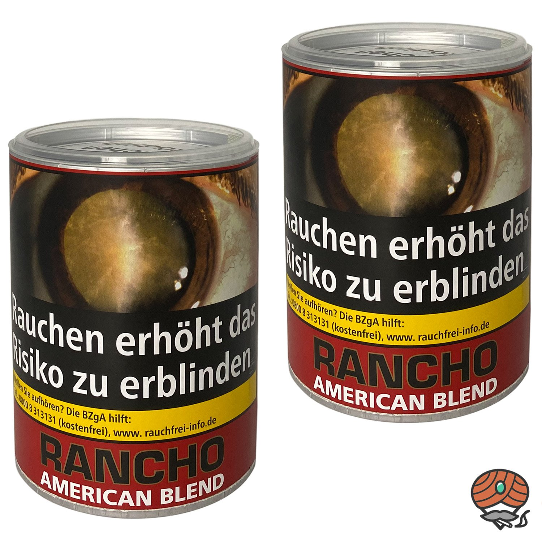 2 x Rancho American Blend Zigarettentabak Dose à 190 g