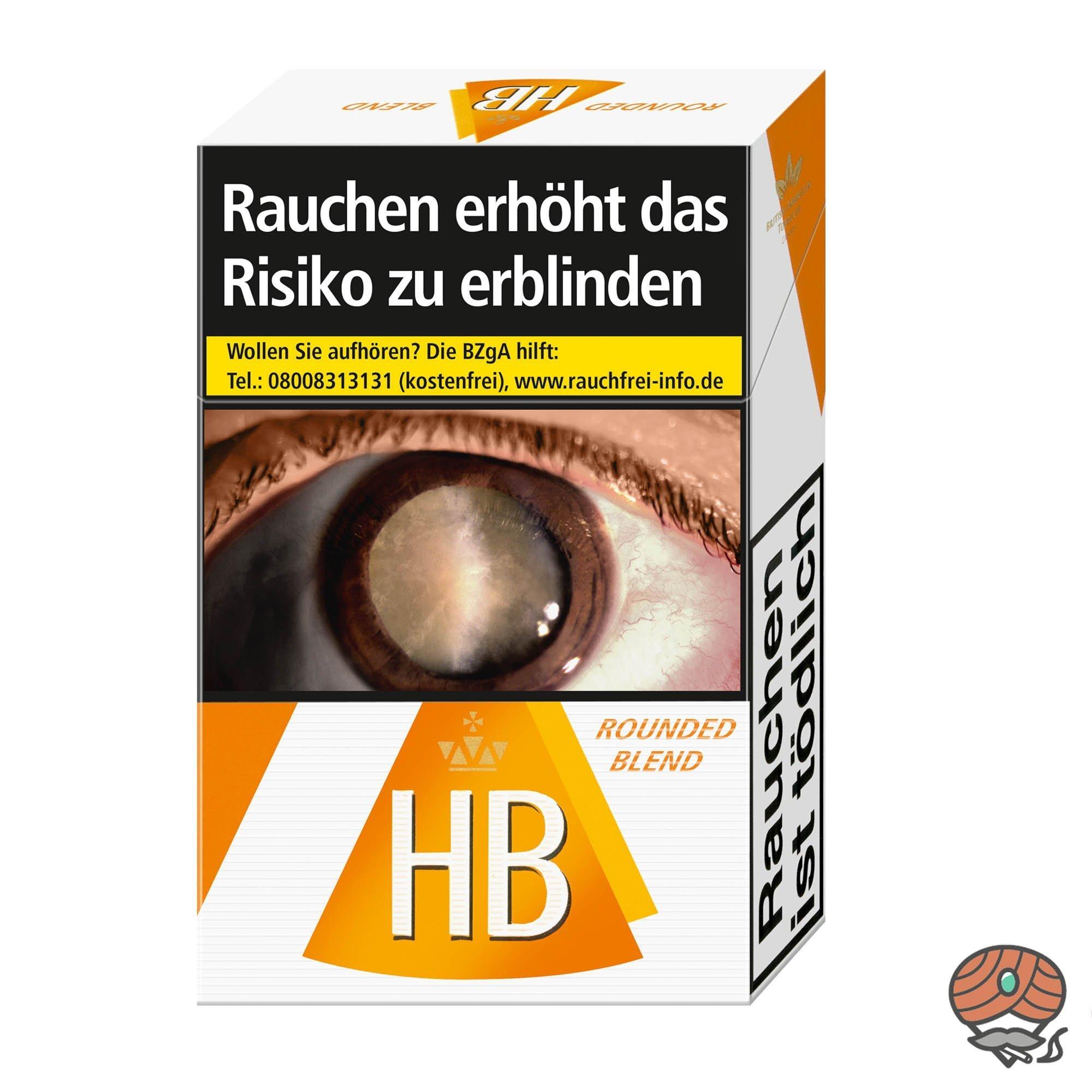 HB Rounded Blend Zigaretten Inhalt 20 Stück