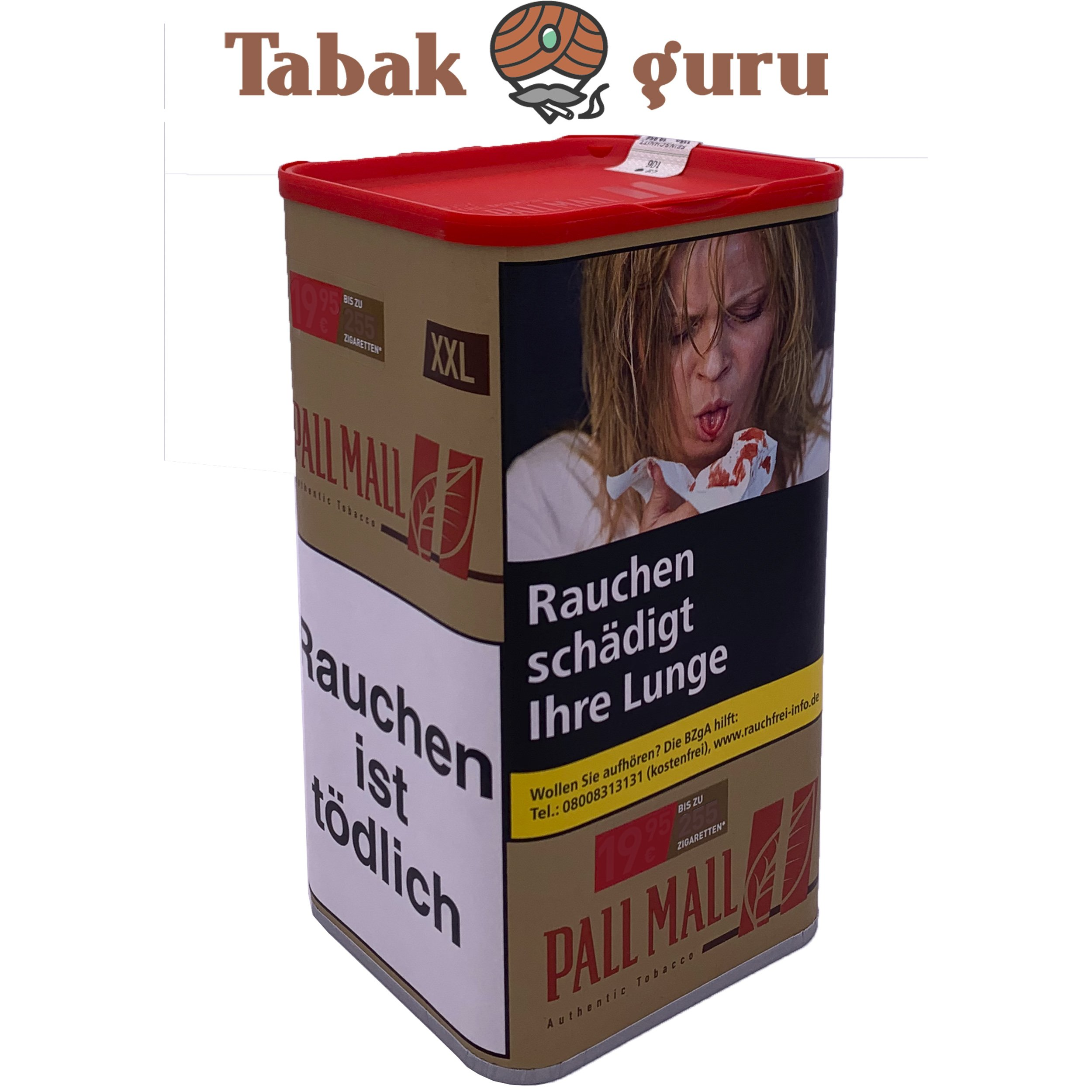 Pall Mall Authentic Red Volumentabak 95g XXL Dose