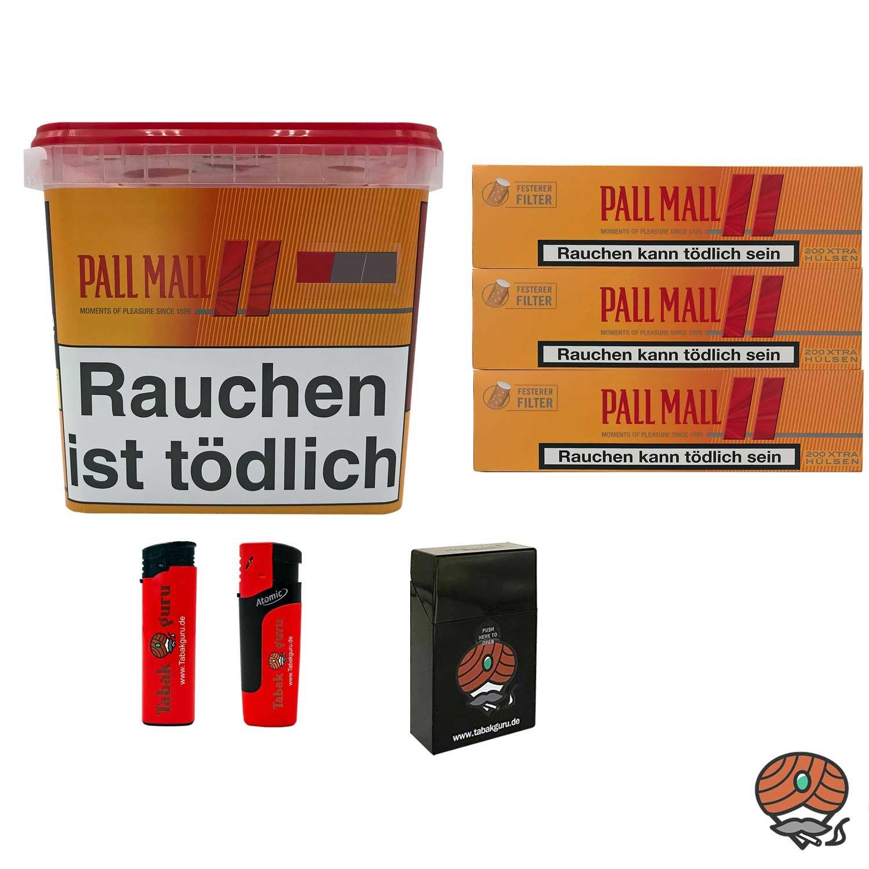 1x Pall Mall Allround Giga Box 260g Volumentabak, 600 Hülsen, Zubehör