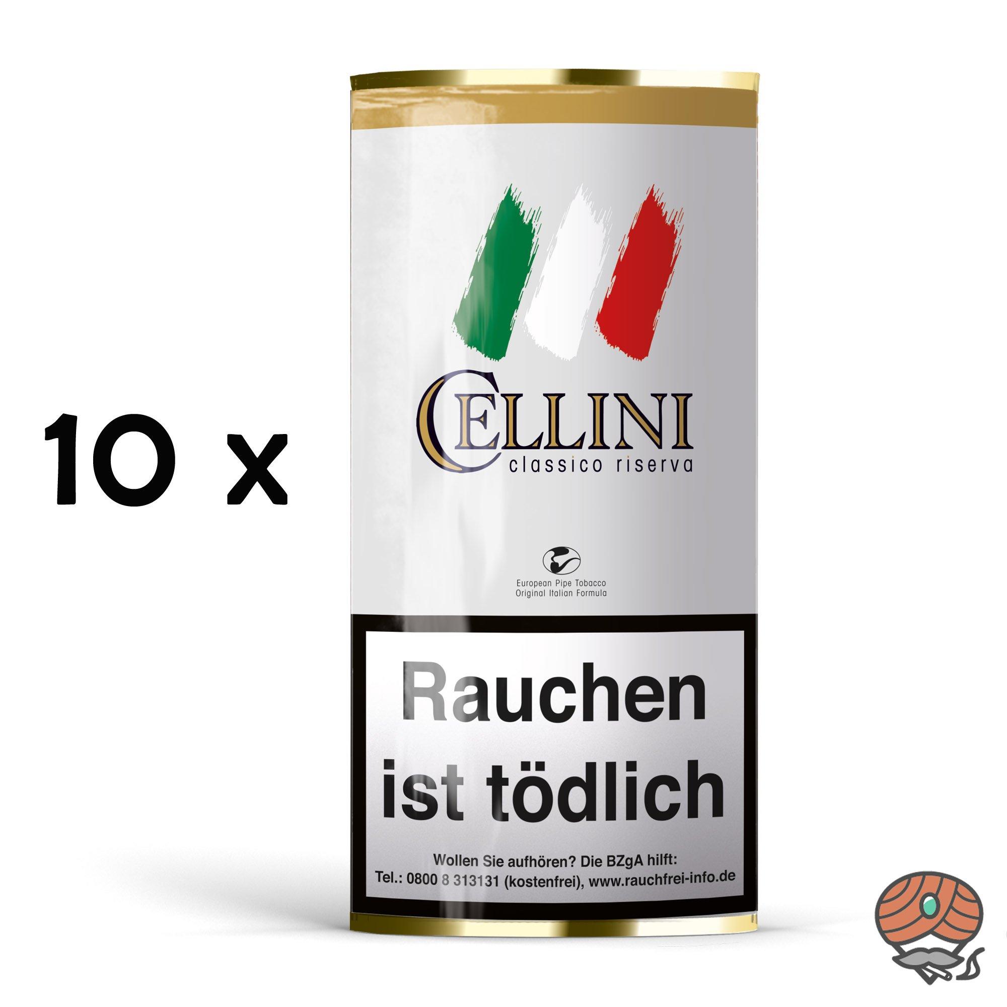 10 Beutel Cellini Classico Riserva Pfeifentabak à 50g
