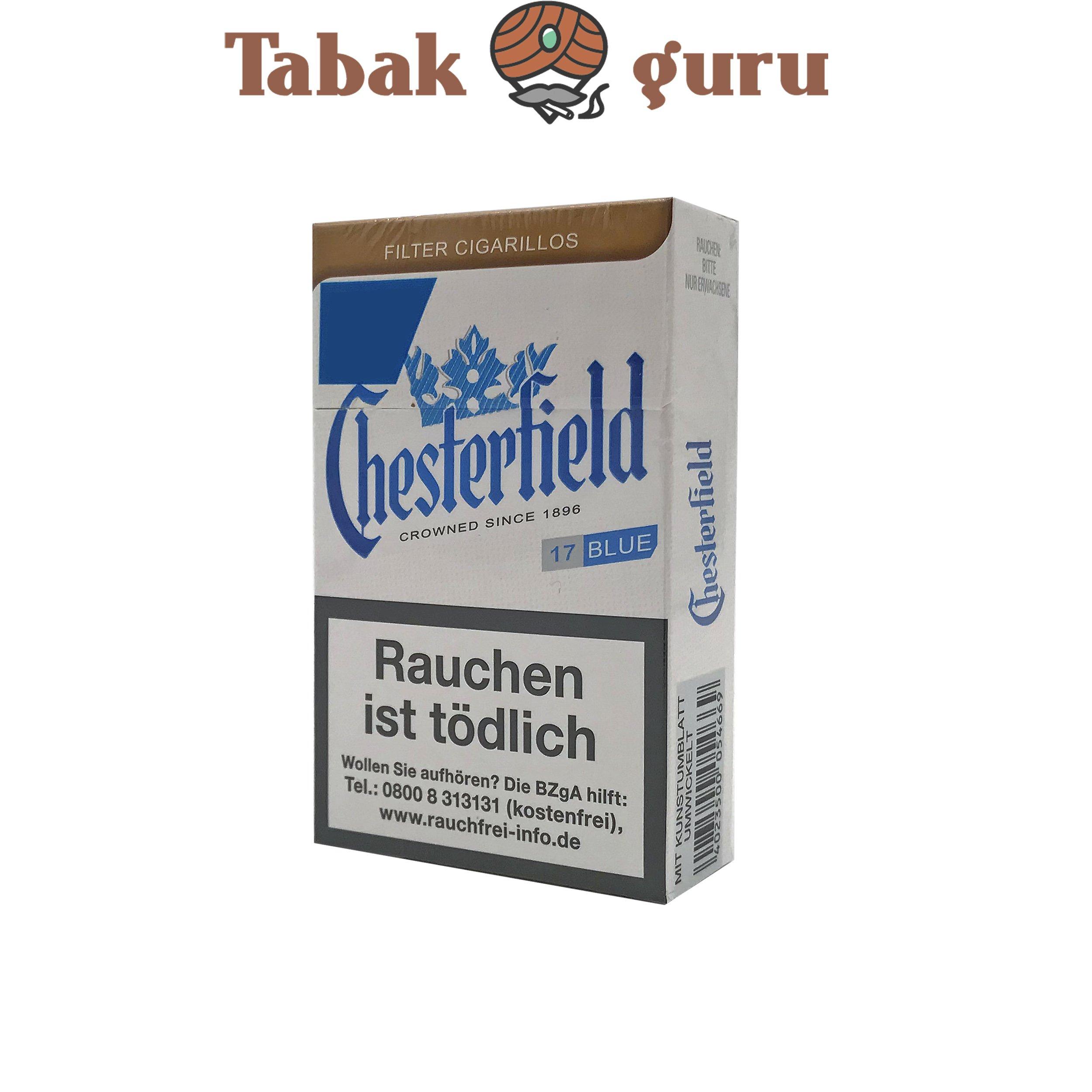 Chesterfield Blue 1 Schachtel Filterzigarillos a 17 Stück