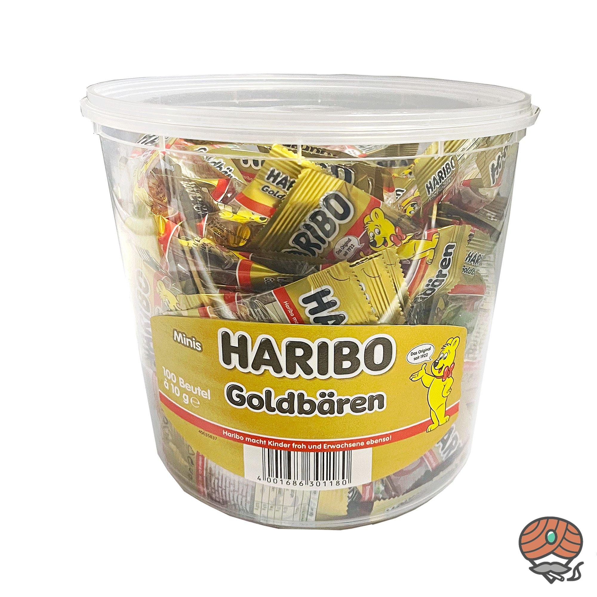Haribo Goldbären 100 Minibeutel pro Dose