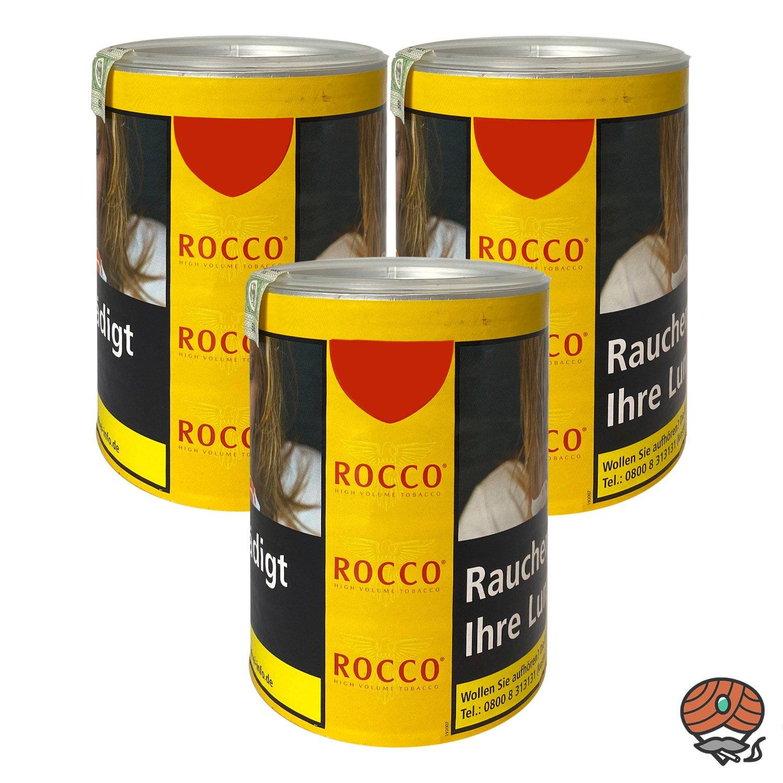 3 x ROCCO Tabak / Volumentabak Gelb Dose 70g