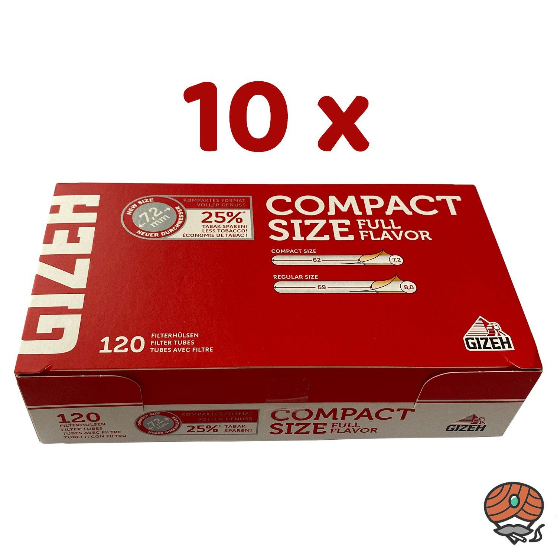 10 x Gizeh COMPACT SIZE Full Flavor Filterhülsen à 120 Stück
