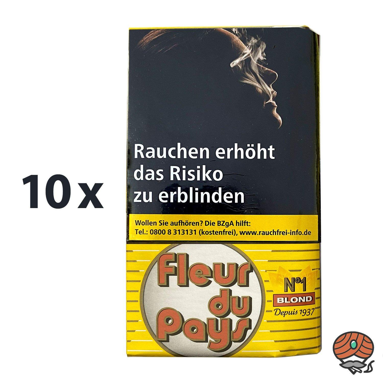 10 x Fleur du Pays No 1 Blond Zigarettentabak / 30g Feinschnitt-Tabak