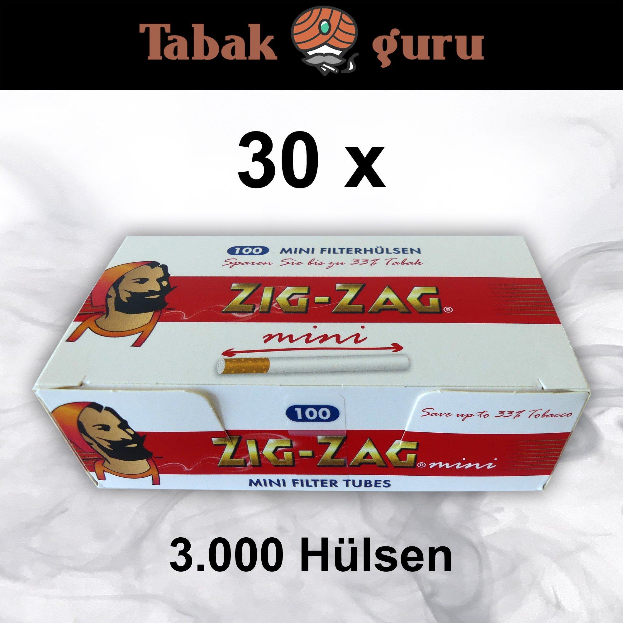 30 x 100 Zig-Zag Mini Filterhülsen