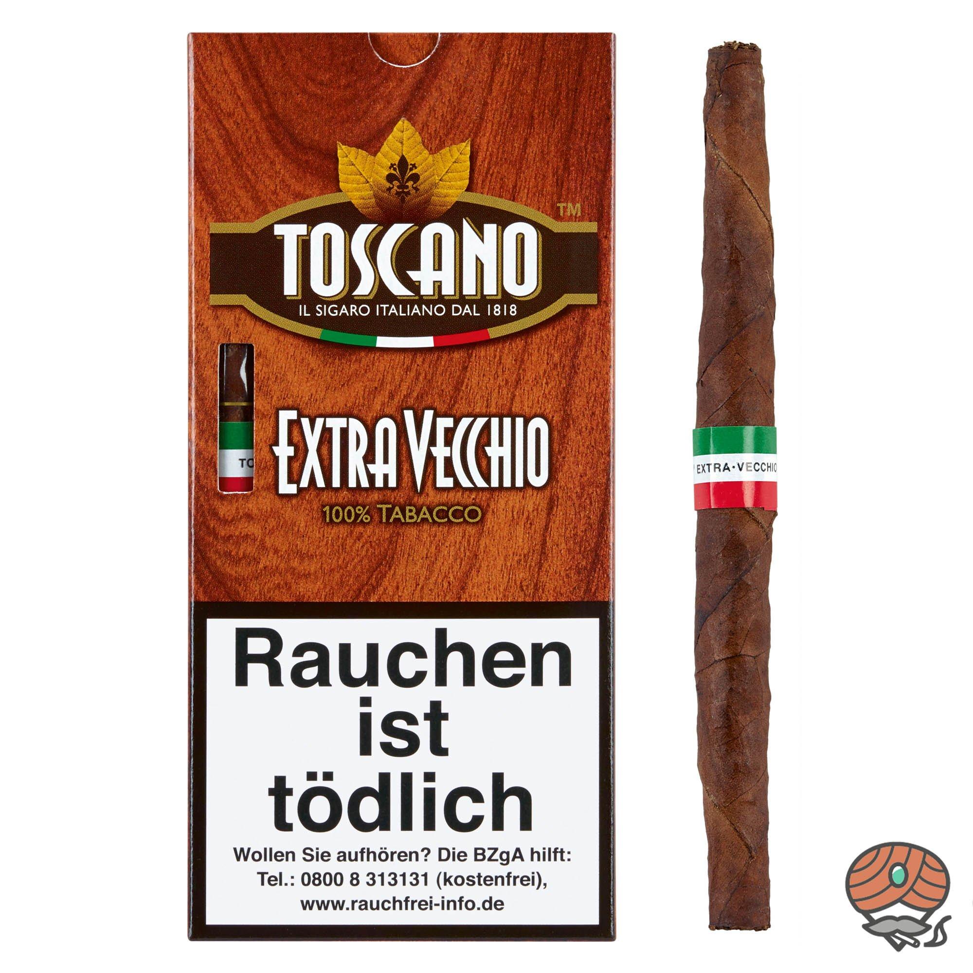 Toscano Extra Vecchio 100% Tabacco Zigarren Inhalt 5 Stück