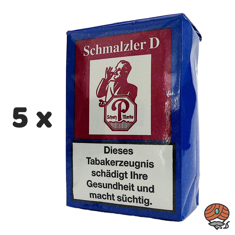 5 x Schmalzler D (ehemals Doppelaroma) Schnupftabak 100g von Pöschl