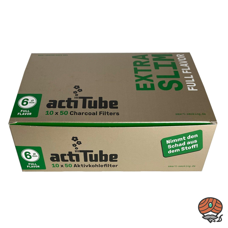 10 x ActiTube Aktivkohlefilter Extra Slim, 6 mm à 50 Stück