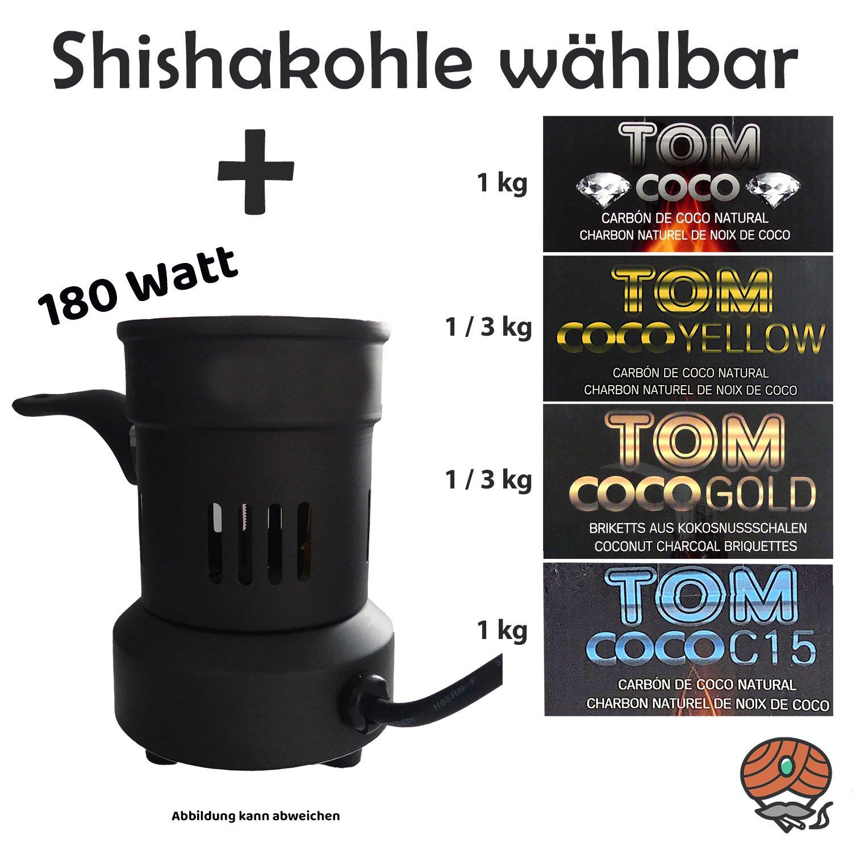 Elektrischer Kohleanzünder 180 Watt + Coco Kohle wählbar