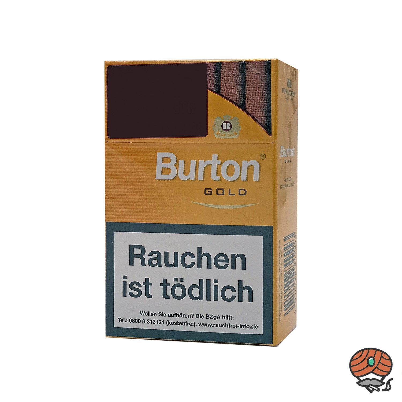 Burton Gold Filter Zigarillos 17 Stück
