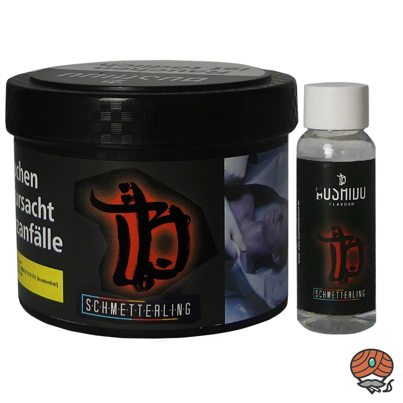 BUSHIDO Schmetterling 200 g Shisha Tabak + Aroma-Shot 20 ml