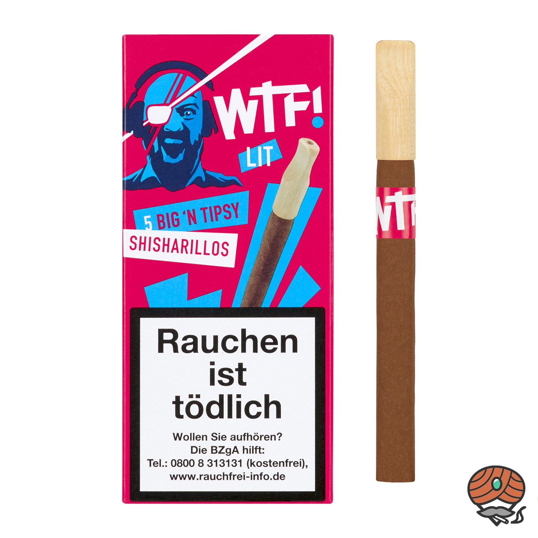 5 WTF! Big´n Tipsy Shisharillos mit Tipsy Mundstück LIT (Blaubeere)