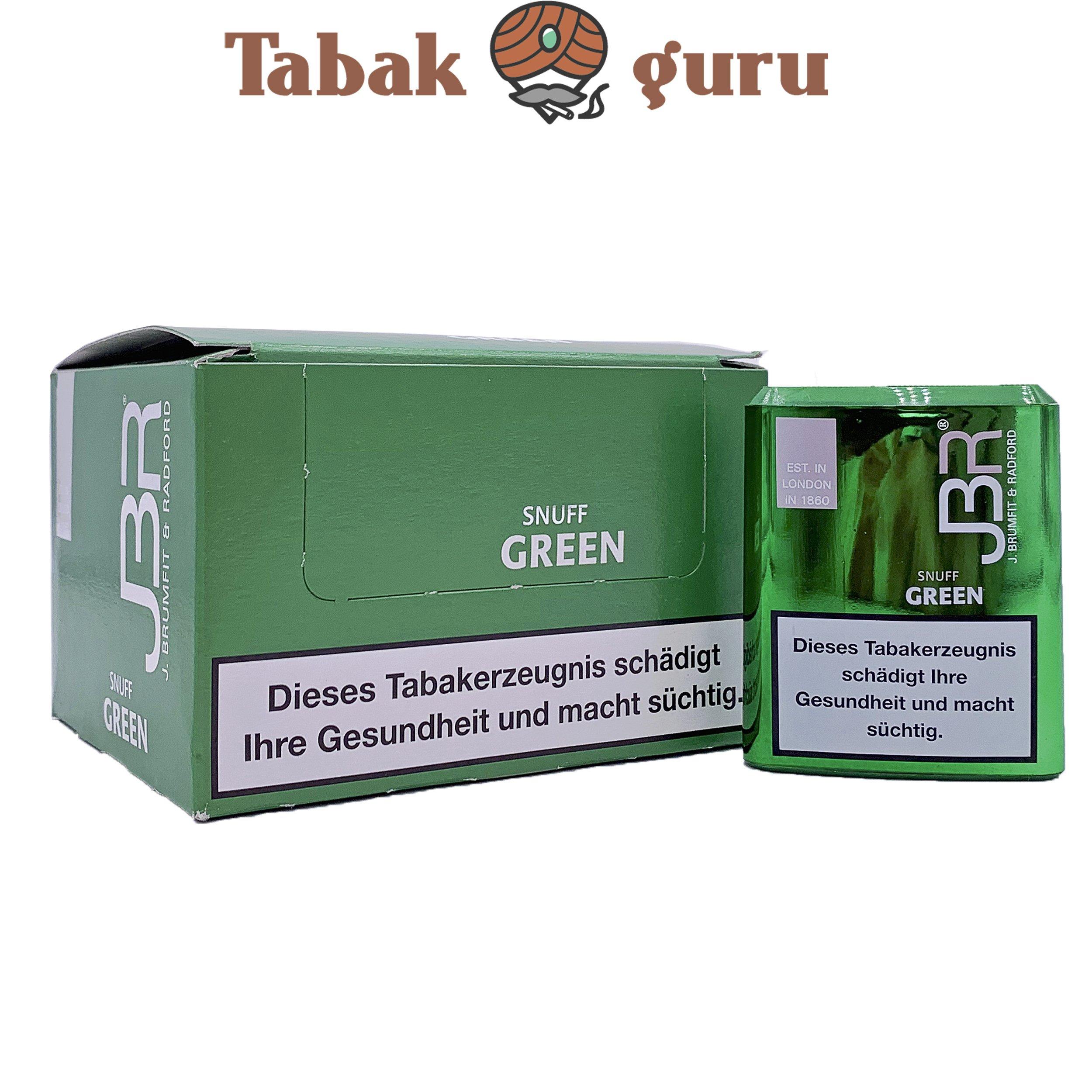 10 x JBR Green Shnuff Schnupftabak