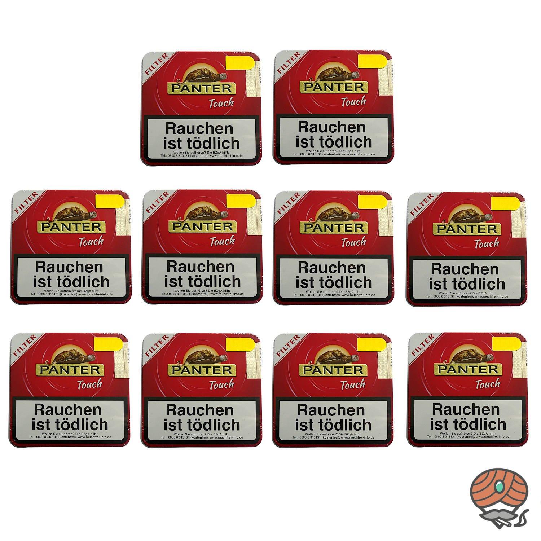 10 Dosen Panter Touch Red Filter Zigarillos á 20 Stück