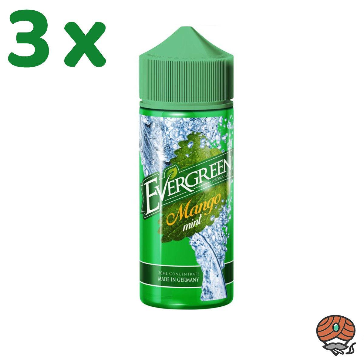3 x Mango Mint Evergreen Aroma à 30 ml