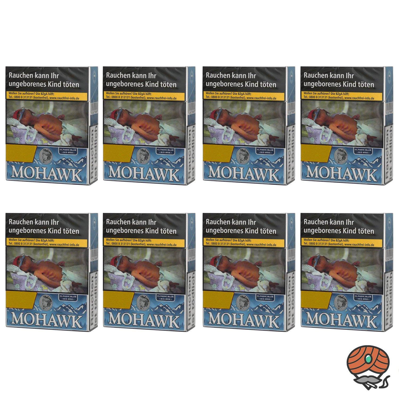 1 Stange Mohawk Classic Blue Filterzigaretten Big Box 8x25 Stück
